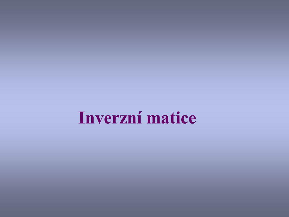 Inverzní matice