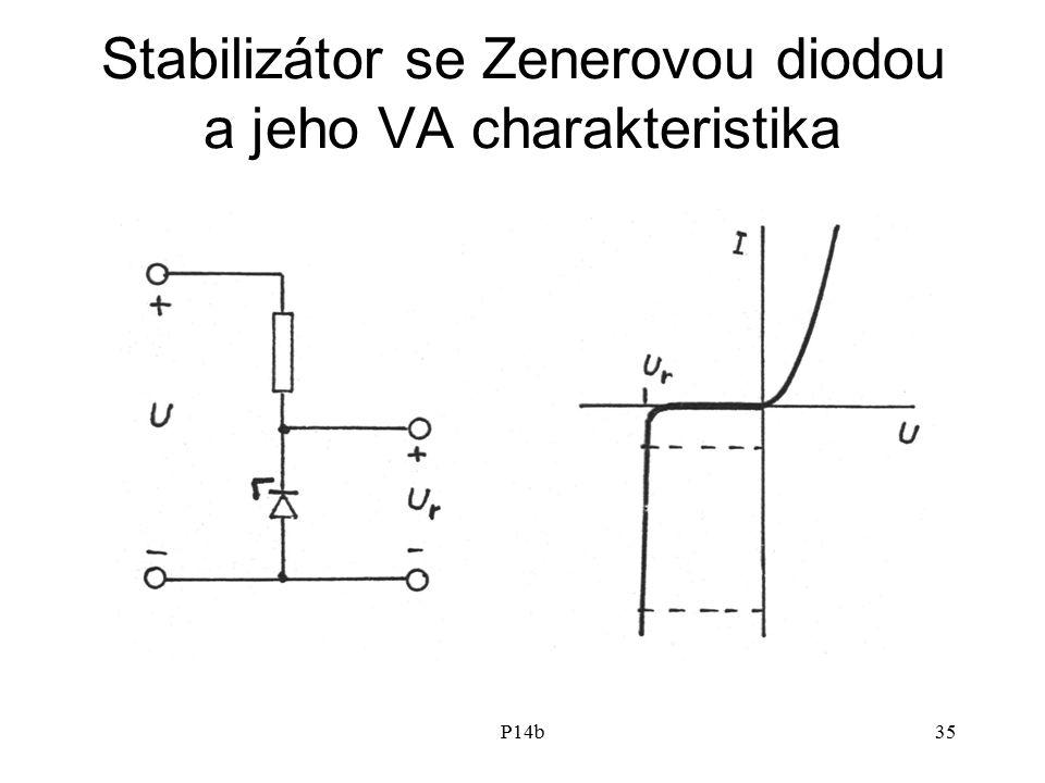Stabilizátor se Zenerovou diodou a jeho VA charakteristika