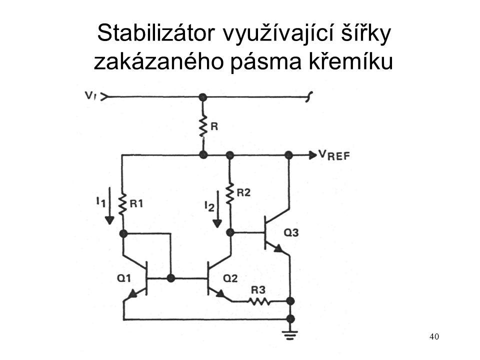 Stabilizátor využívající šířky zakázaného pásma křemíku