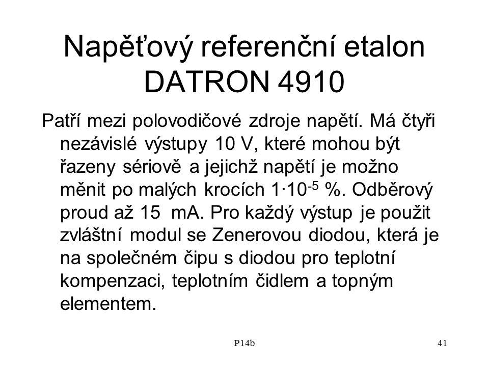Napěťový referenční etalon DATRON 4910