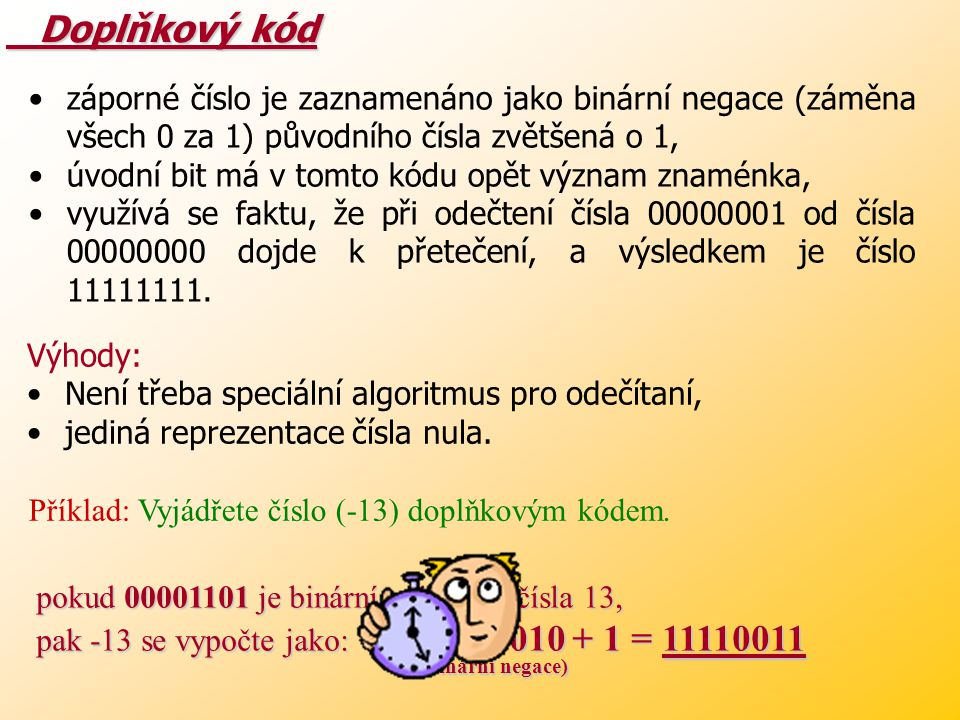 Doplňkový kód (binární negace)