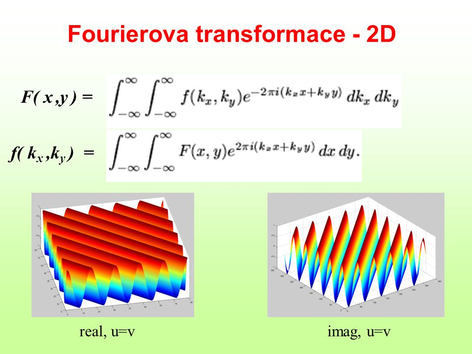 Fourierova transformace - 2D