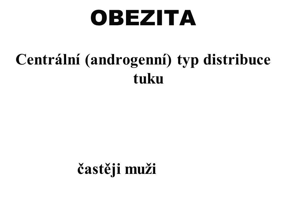 Centrální (androgenní) typ distribuce tuku