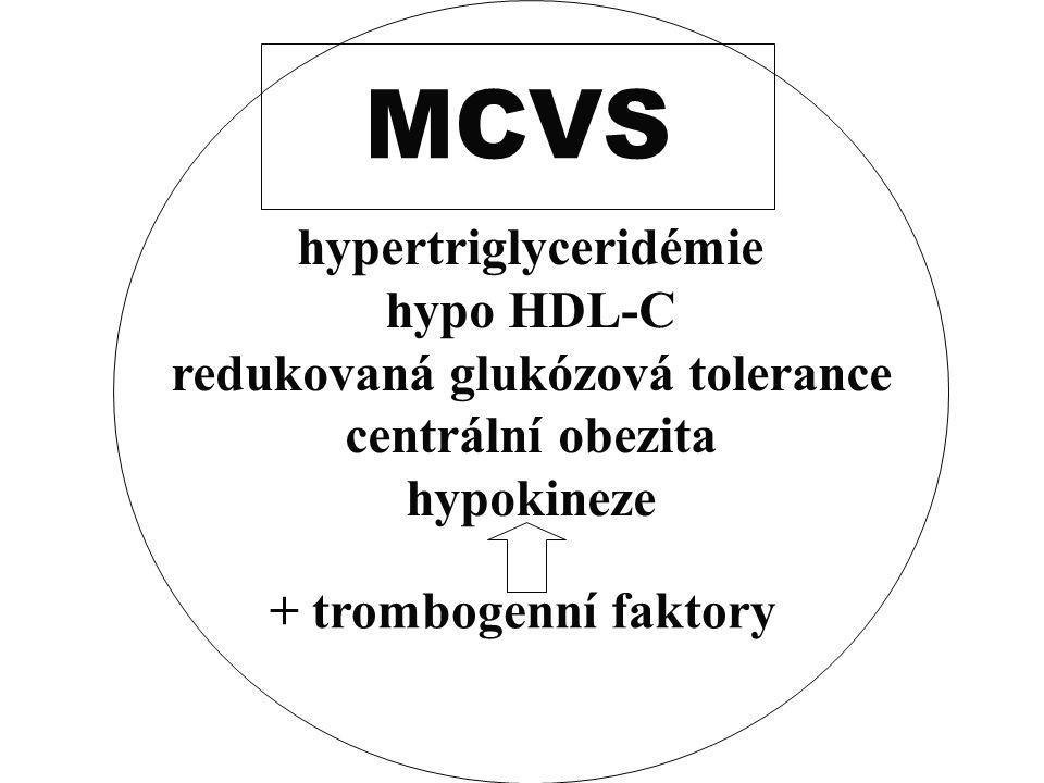 hypertriglyceridémie redukovaná glukózová tolerance