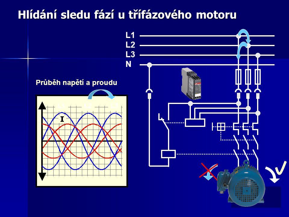 Hlídání sledu fází u třífázového motoru