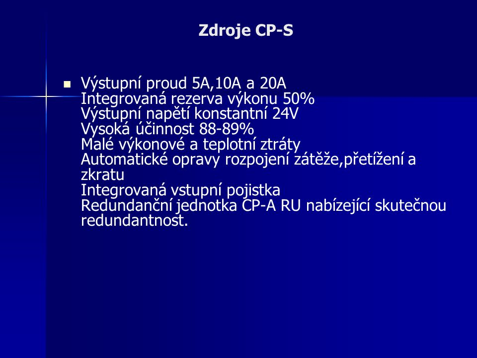 Zdroje CP-S