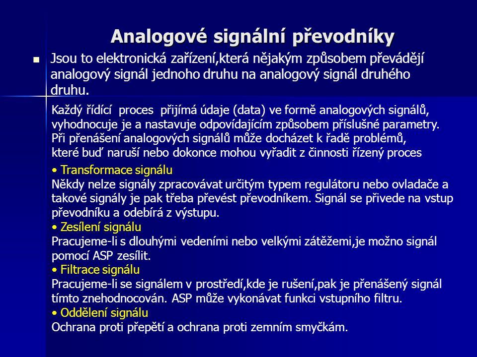 Analogové signální převodníky