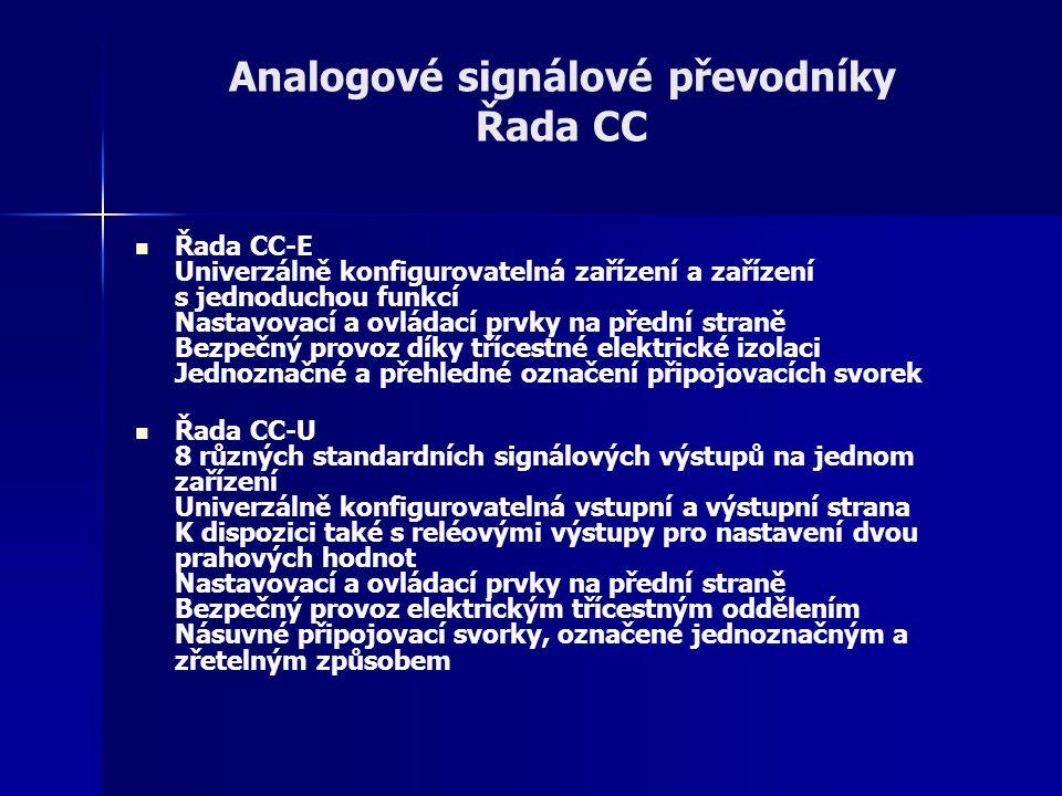 Analogové signálové převodníky Řada CC