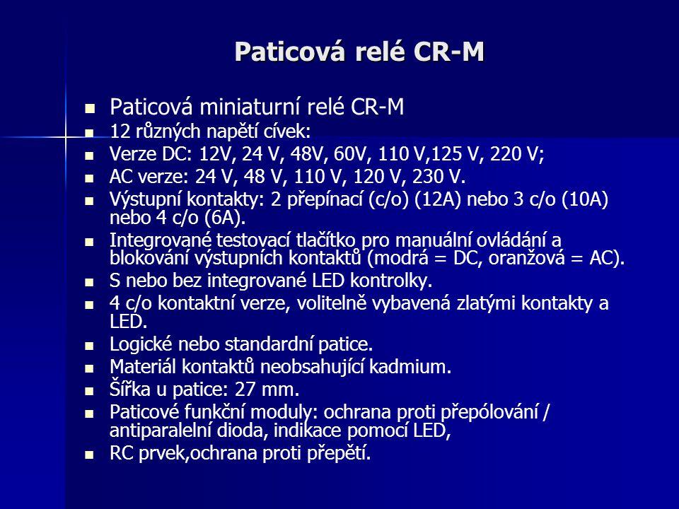 Paticová relé CR-M Paticová miniaturní relé CR-M