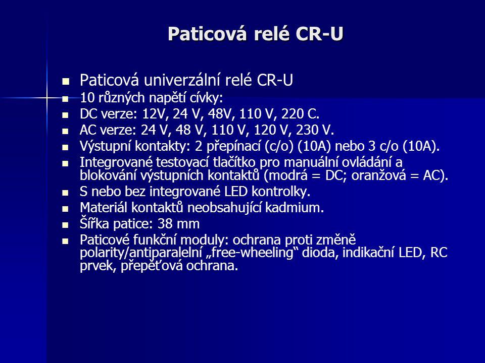 Paticová relé CR-U Paticová univerzální relé CR-U