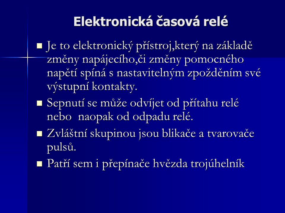 Elektronická časová relé