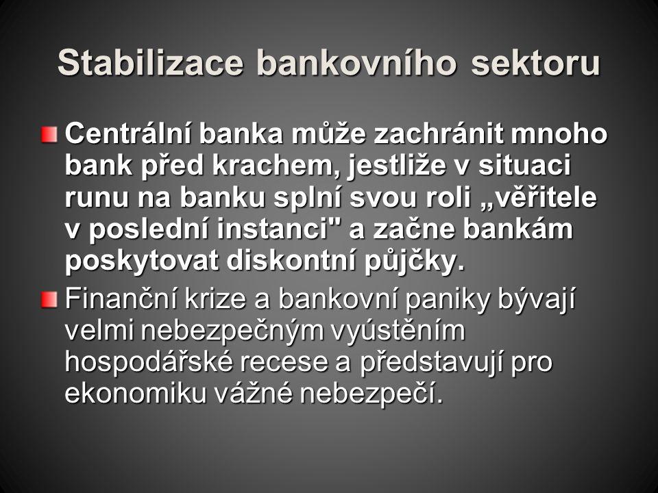 Stabilizace bankovního sektoru