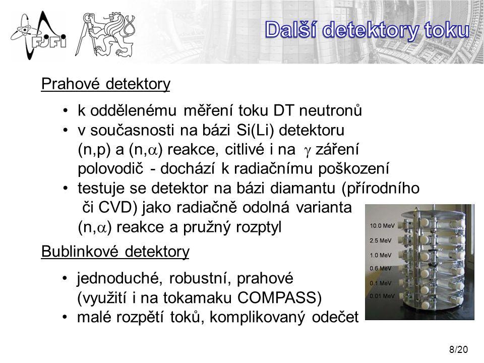 Další detektory toku Prahové detektory