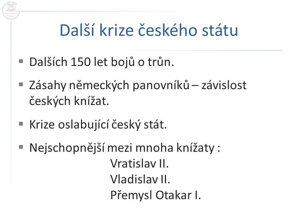 Další krize českého státu