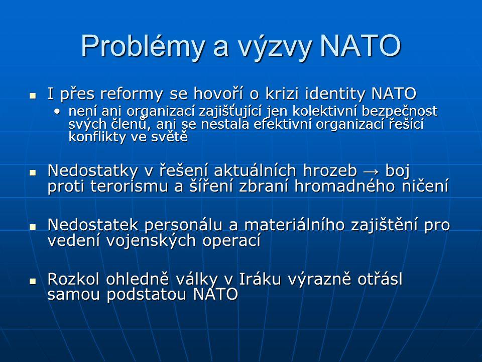 Problémy a výzvy NATO I přes reformy se hovoří o krizi identity NATO