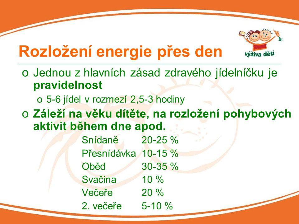 Rozložení energie přes den
