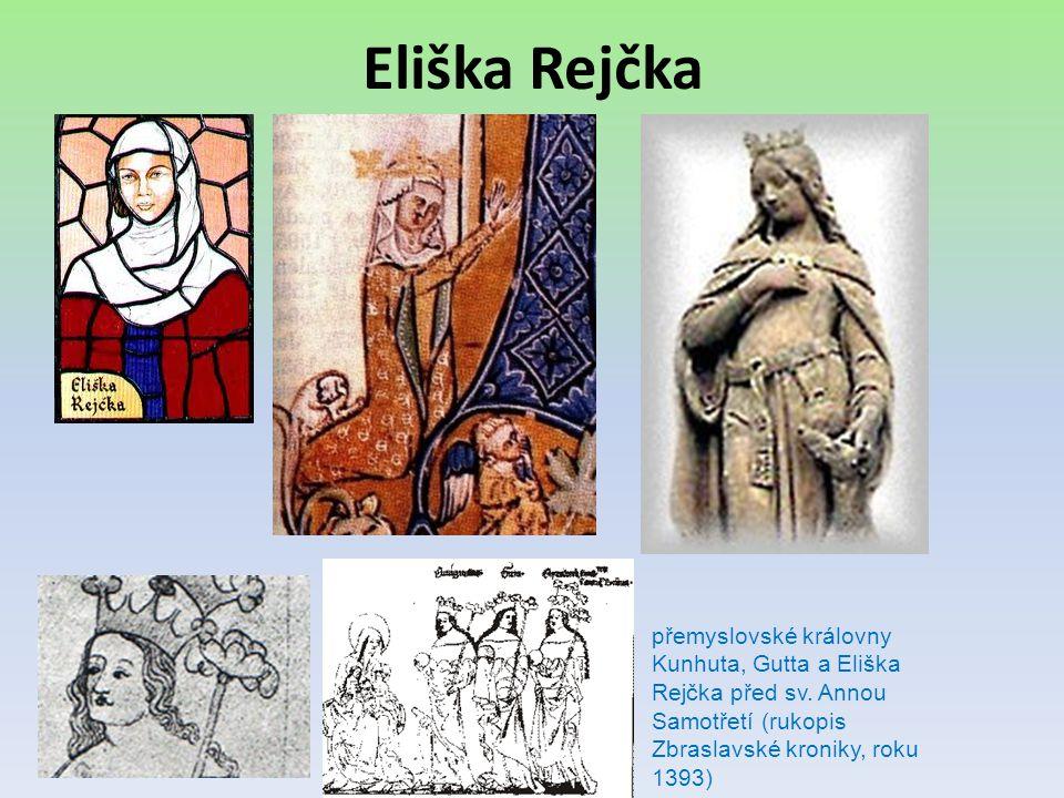 Eliška Rejčka přemyslovské královny Kunhuta, Gutta a Eliška Rejčka před sv.