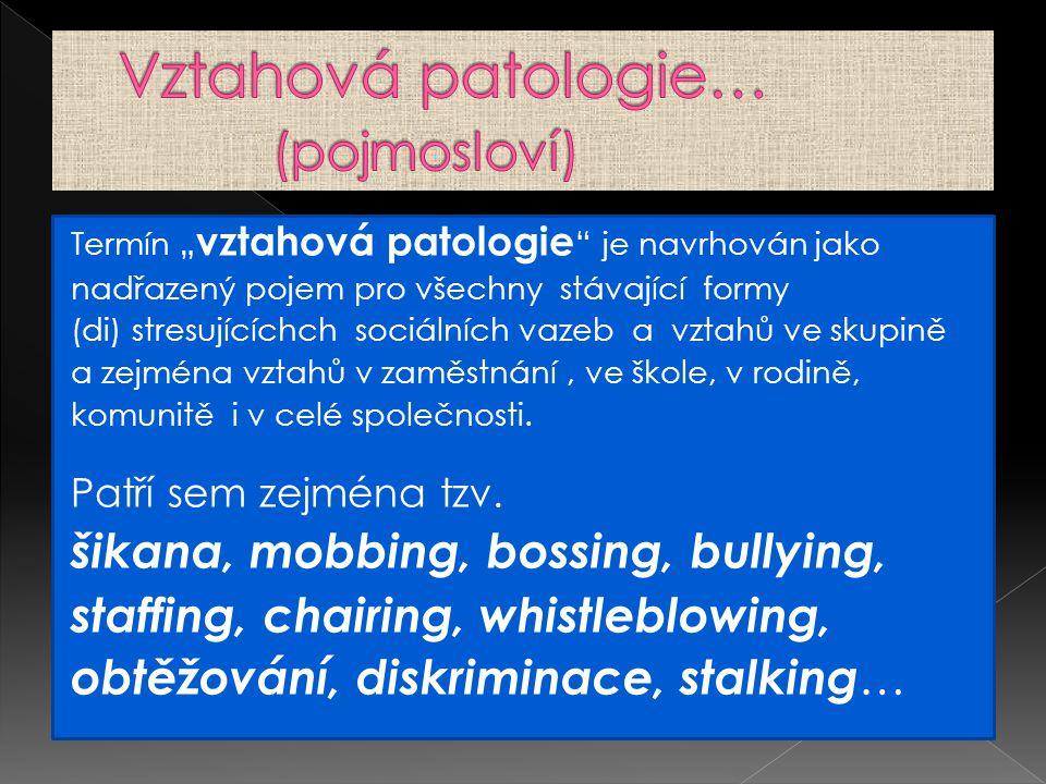 Vztahová patologie… (pojmosloví)