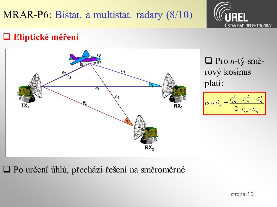 MRAR-P6: Bistat. a multistat. radary (8/10)