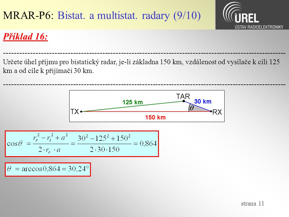 MRAR-P6: Bistat. a multistat. radary (9/10)