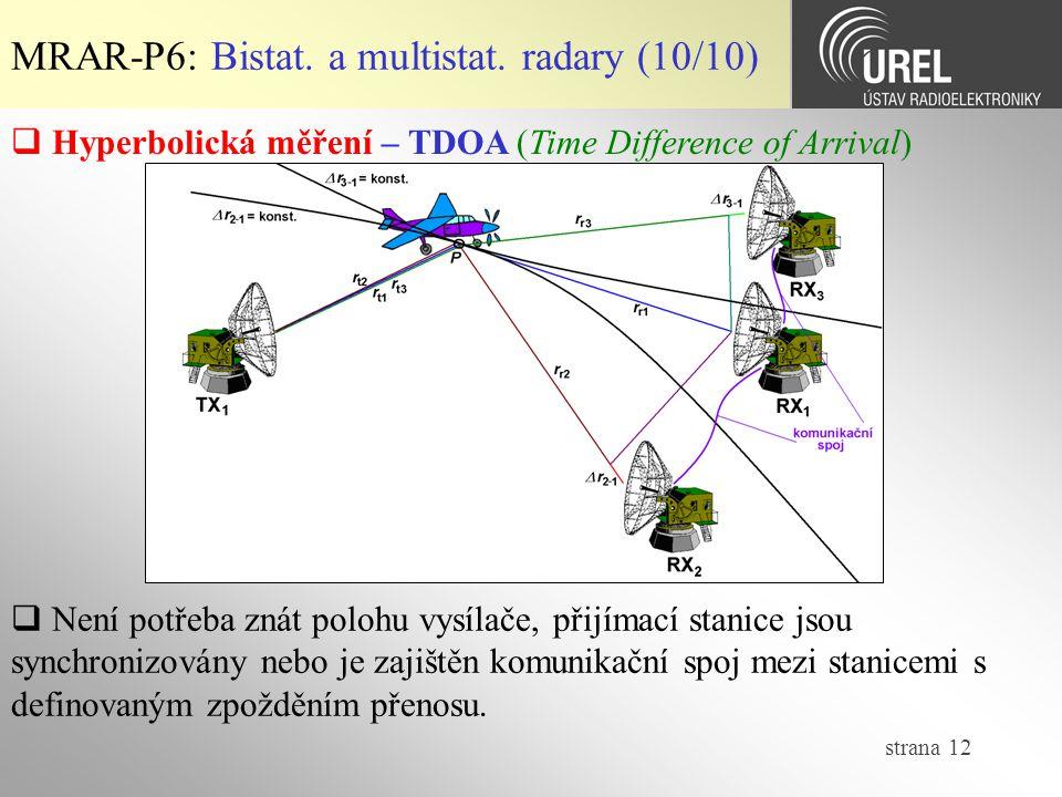MRAR-P6: Bistat. a multistat. radary (10/10)