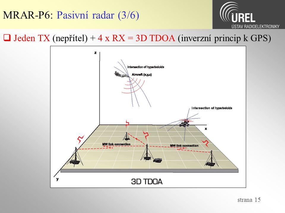 MRAR-P6: Pasivní radar (3/6)