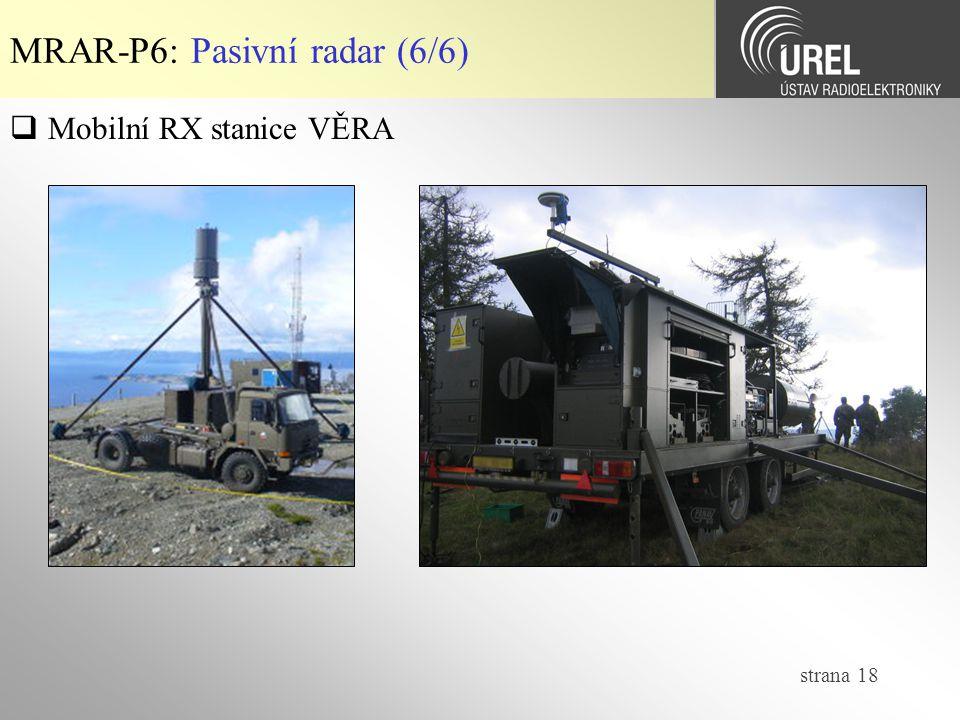 MRAR-P6: Pasivní radar (6/6)