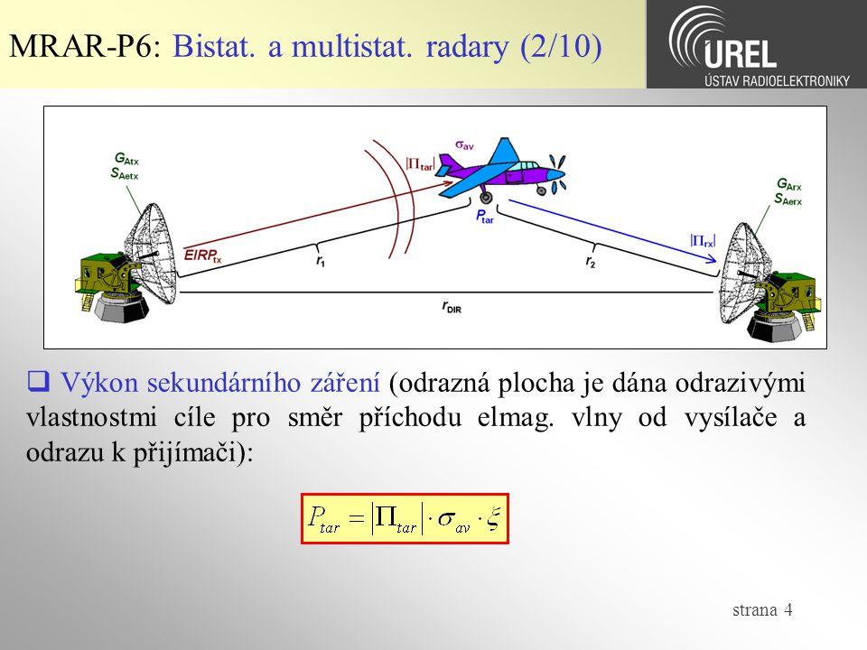 MRAR-P6: Bistat. a multistat. radary (2/10)