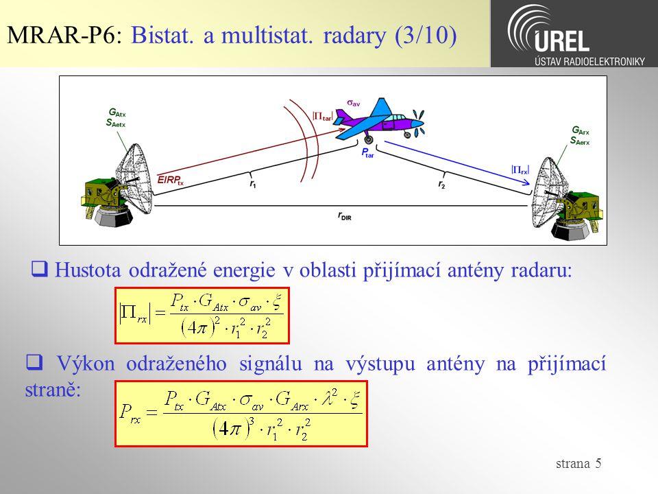 MRAR-P6: Bistat. a multistat. radary (3/10)