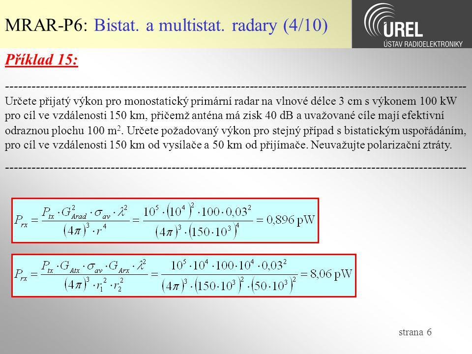 MRAR-P6: Bistat. a multistat. radary (4/10)