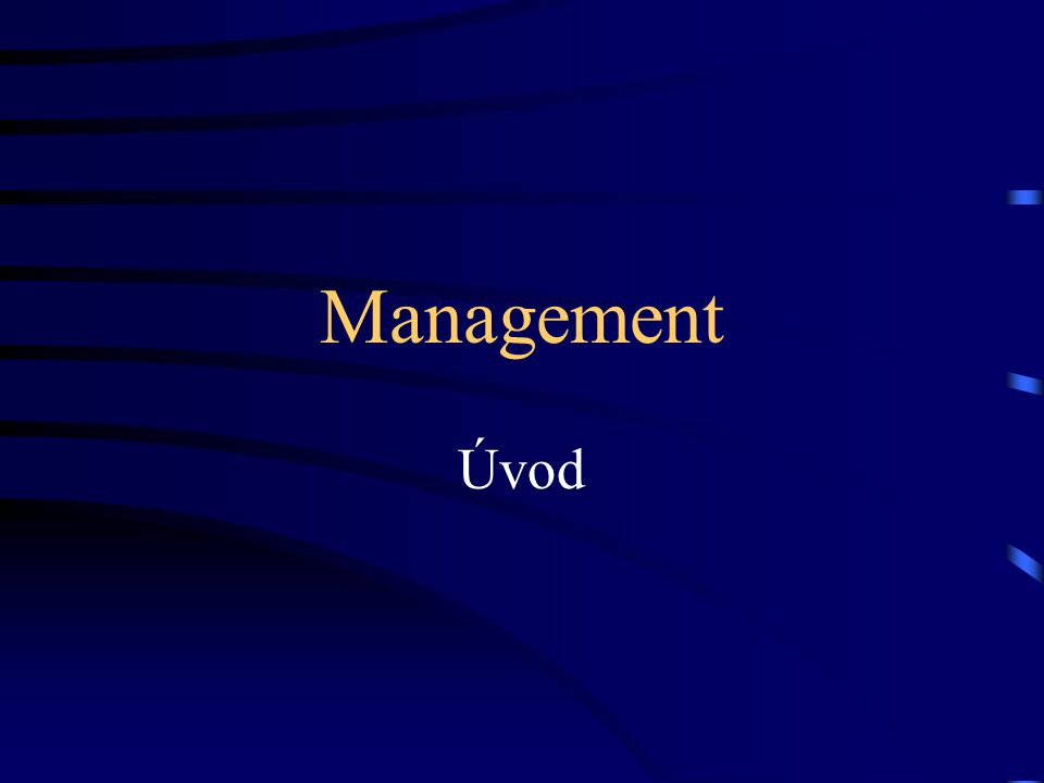 Management Úvod