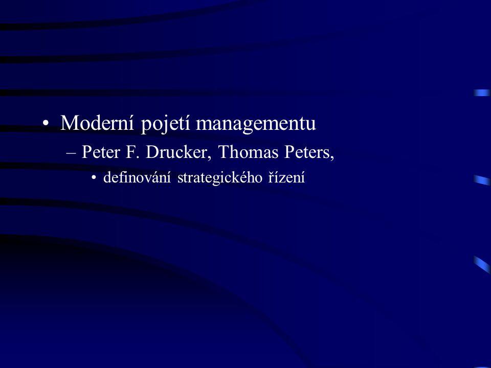 Moderní pojetí managementu