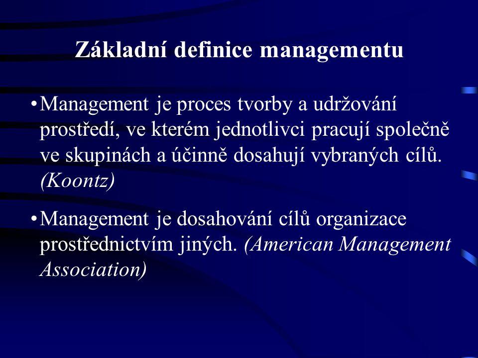 Základní definice managementu