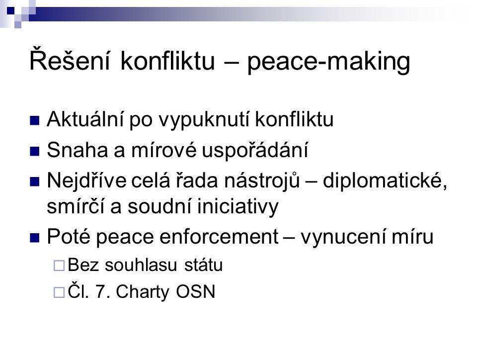 Řešení konfliktu – peace-making