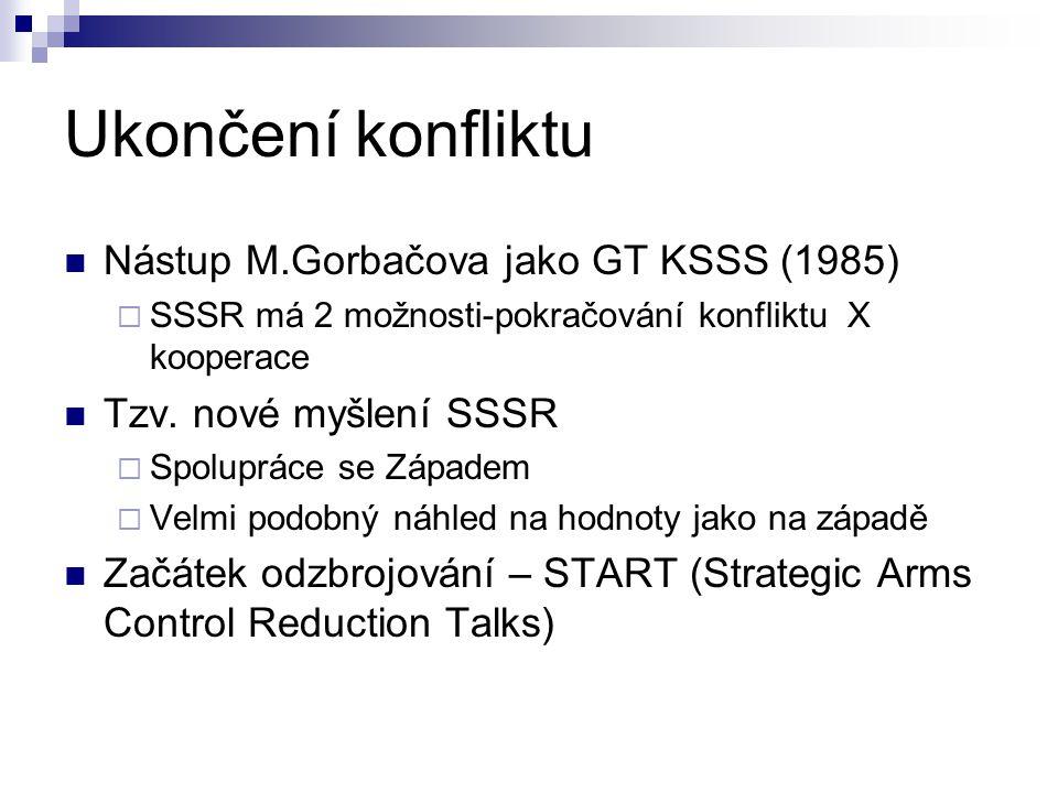 Ukončení konfliktu Nástup M.Gorbačova jako GT KSSS (1985)