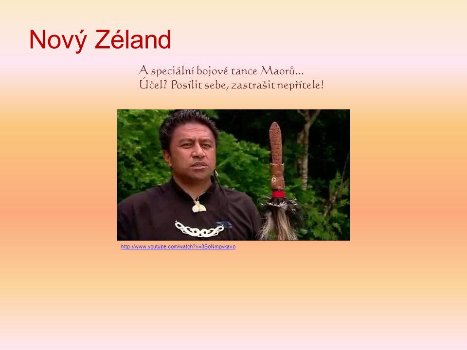 Nový Zéland A speciální bojové tance Maorů...