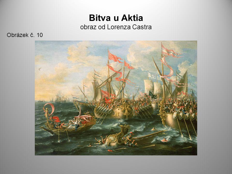 Bitva u Aktia obraz od Lorenza Castra