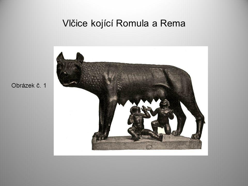 Vlčice kojící Romula a Rema