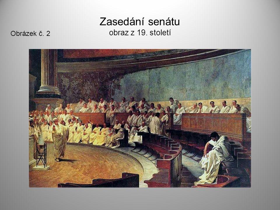 Zasedání senátu obraz z 19. století