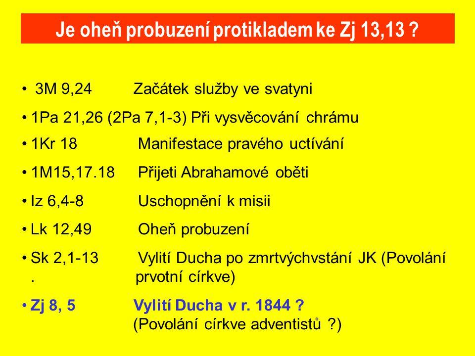 Je oheň probuzení protikladem ke Zj 13,13