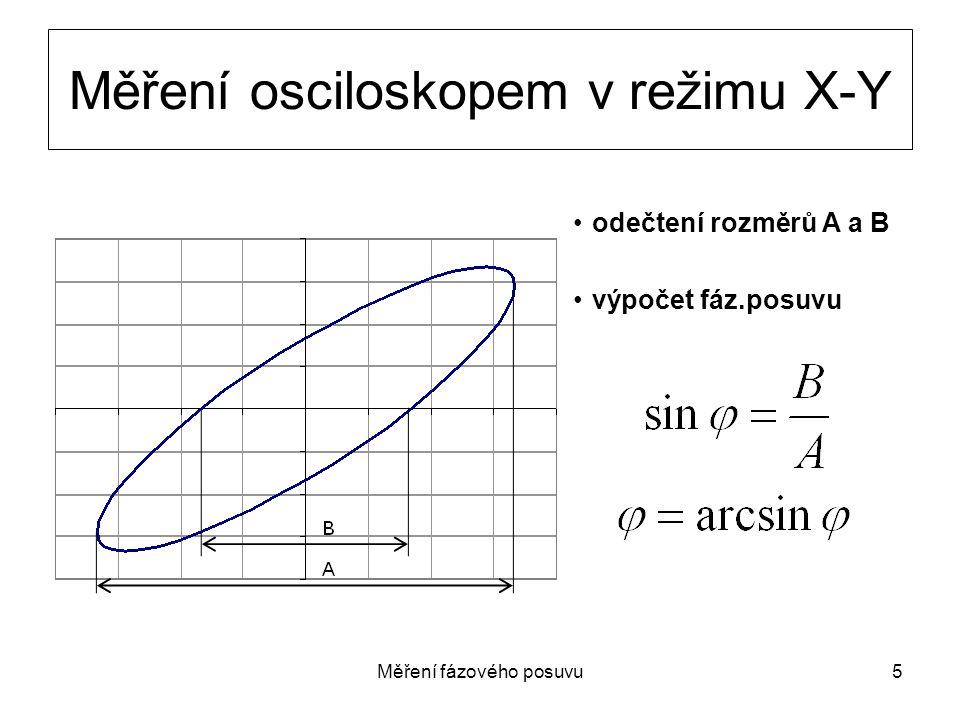 Měření osciloskopem v režimu X-Y