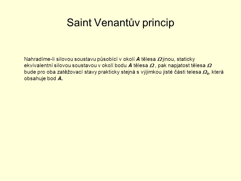 Saint Venantův princip
