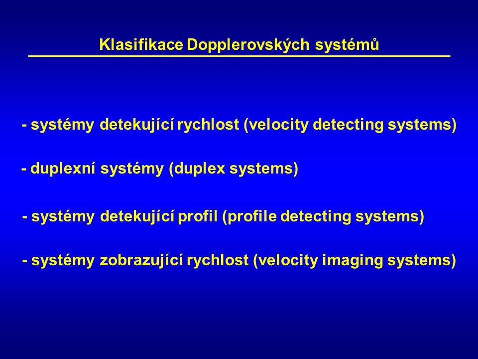Klasifikace Dopplerovských systémů
