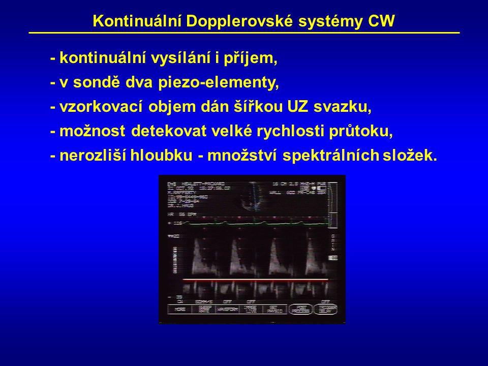 Kontinuální Dopplerovské systémy CW
