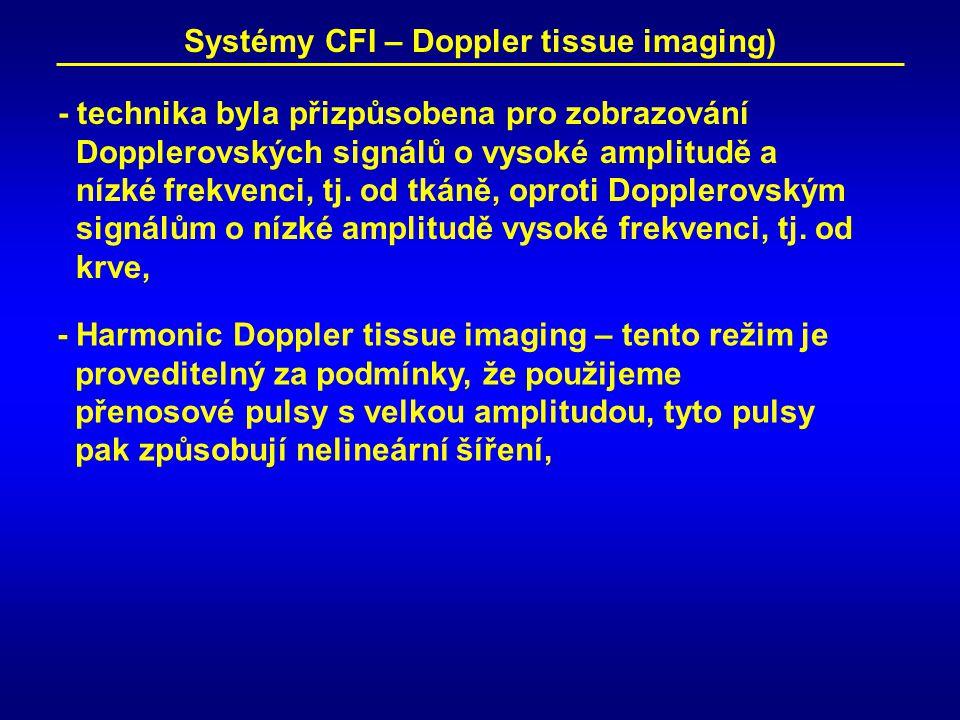 Systémy CFI – Doppler tissue imaging)