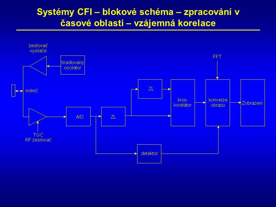 Systémy CFI – blokové schéma – zpracování v