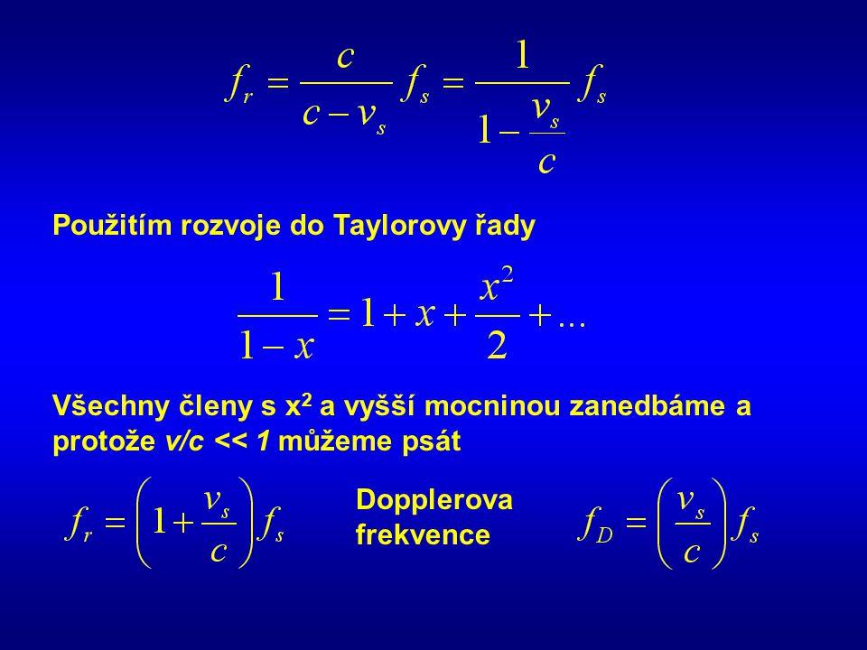 Použitím rozvoje do Taylorovy řady