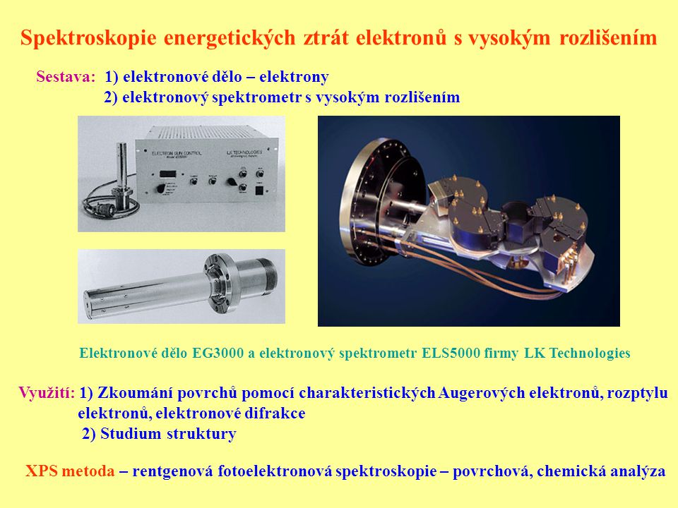 Spektroskopie energetických ztrát elektronů s vysokým rozlišením