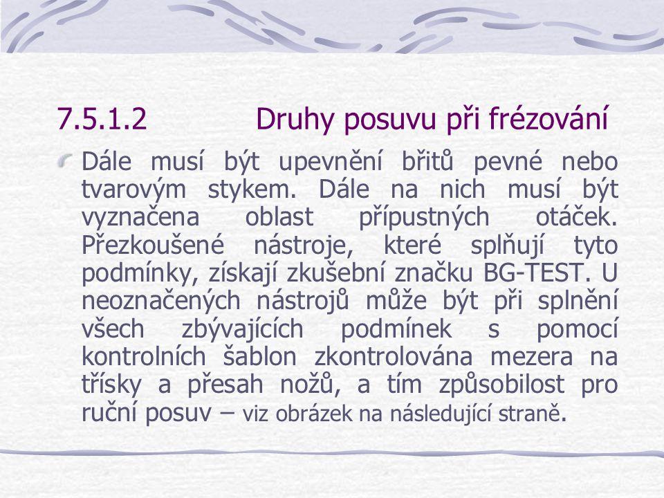 7.5.1.2 Druhy posuvu při frézování