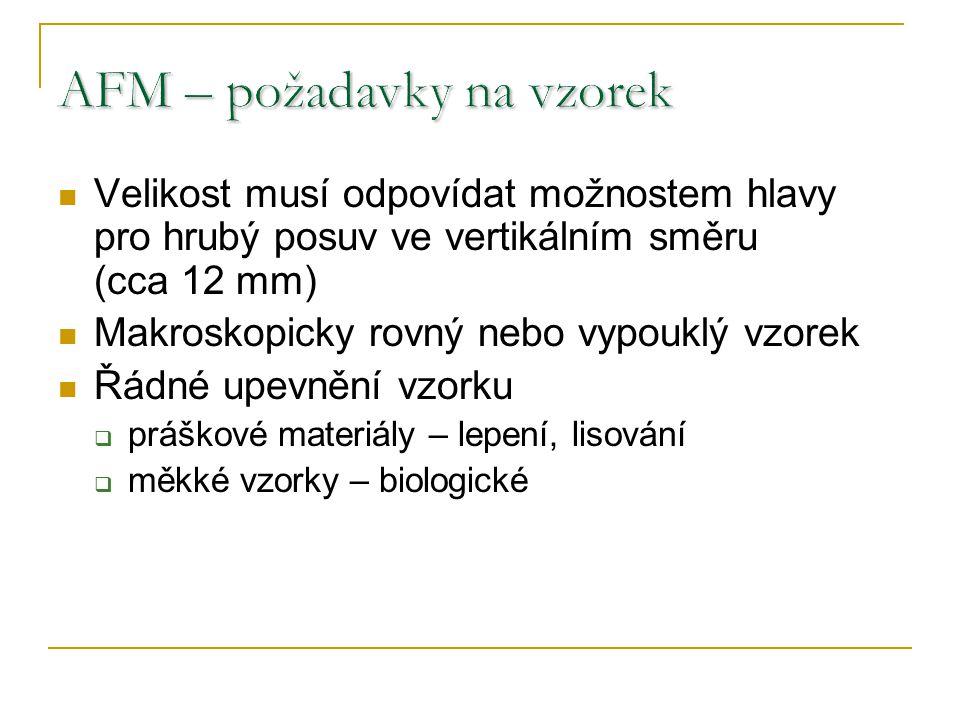 AFM – požadavky na vzorek